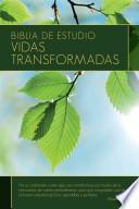 libro Biblia De Estudio: Vidas Transformadas Rvr 1960