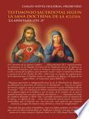 libro Testimonio Sacerdotal Segn La Sana Doctrina De La Iglesia