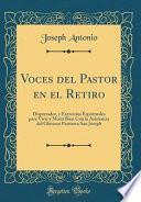 libro Voces Del Pastor En El Retiro