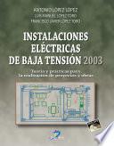 libro Instalaciones Eléctricas De Baja Tensión 2003
