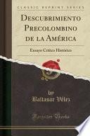 libro Descubrimiento Precolombino De La América